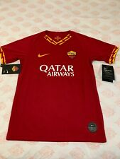 NIKE AS ROMA 2019/20 HOME STADIUM SS JERSEY NWT SIZE M YOUTH