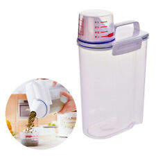 2L Kitchen Food Cereal Grain Bean Rice Plastic Storage Container Box