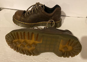 Dr Doc Martens Air Wair Mens 7 US 8312 Brown Leather Oxford Shoes Lace Up