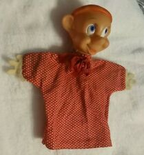 ~Vintage Snow White's Dopey WDP Disney Hand Fabric Puppet Collectible~