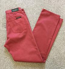 Splendido HENRY COTTONS rosa salmone/rosso 5 Tasche Jeans Pantaloni 30 W 34 L