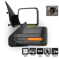 Automobile Towing Mirror+Power+Heated+LED Signal Kit For Ford F150 2007-2014