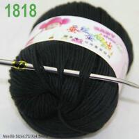 Sale New 1 ball x50gr Cashmere Silk Velvet Baby Children Hand Knitting Yarn 18