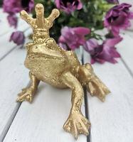 Froschkönig Frosch Gold Märchen Figur Skulptur Krone Dekoration Prinz Küssen