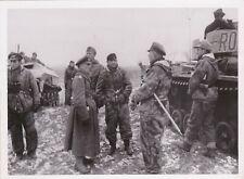 Wehrmacht Elite GD+Manteuffel, Oberst Schultz, RK + OL, Orig Photo.