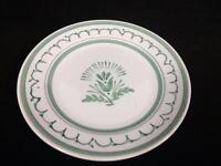 Arabia Finland Green Thistle Pottery Bread Butter Plate Vtg Mid Century 5-3/4