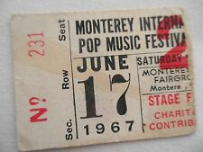 MONTEREY POP FESTIVAL__1967__CONCERT TICKET STUB__Ticket #2__JANIS JOPLIN