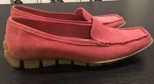 BCBG Max Azria Size 7 Shoes 37 Womens Driving Suede Moccasins Loafers Pink New