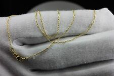 14k yellow gold 16 inch 1mm rolo cable chain necklace NEW 1.31 grams