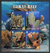 Montserrat 2017 neuf sans charnière corail éponge 4 V M/S Fish Poissons Coraux Marine timbres