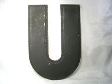 """Last Few! Older Vintage Large Industrial Salvage Letter 'U'-  Metal 10"""" tall"""