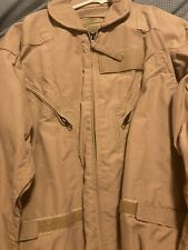 USAF Flight Suit Coveralls Flyer Size 44R CWU-27/P Desert Tan