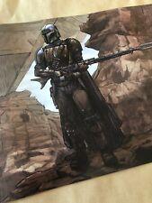 "Star Wars The Mandalorian ""Best in the Parsec"" Brent Woodside Art Print NT Mondo"