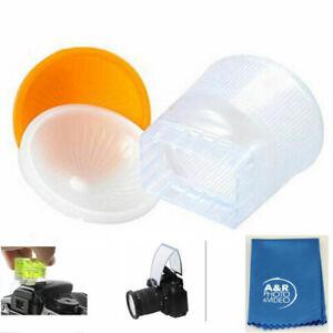 Cloud Lambency Flash Diffuser Orange White Dome Cover for Canon 580EX Yongnuo +