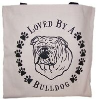 Loved By A English Bulldog Tote Bag New  MADE IN USA