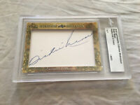 Dickie Moore 2018 Leaf Masterpiece Cut Signature autographed signed card 1/1 JSA
