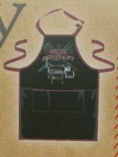 Pantry Apron Men's Grill Sergeant Apron Outdoors BBQ Black Burgundy 27 x 29 Inch