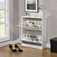 [en.casa]® Mueble zapatero armario 2 puertas con baldas para zapatos aglomerado