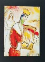 """Marc Chagall """"King David Playing His Lyre """" Exodus  Mounted Offset Litho  1973"""