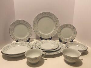 English Garden Fine China Japan Platinum #1221 - 12 piece set