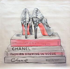 """CHANEL"" | 100cm x 100cm Handpainted | Textured | Artwork | On Canvas | AUSMADE"