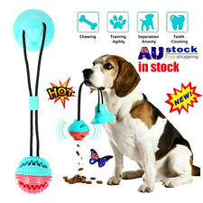 Pet Rubber Ball Toy With Suction Cup Dog Self-playing Durable Molar Chew Toy EA