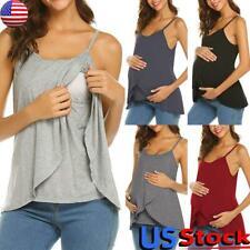 Pregnant Women Maternity Clothes Nursing Tops Breastfeeding Strappy T Shirt Vest