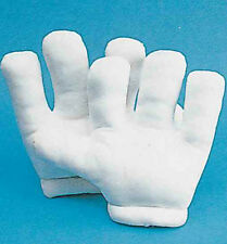 ADULT WHITE GIANT FOAM CARTOON GLOVES MICKEY MOUSE HUGE BIG JUMBO WHITE MITTS