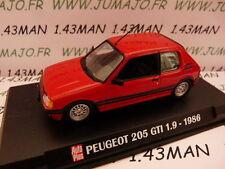 AP10 Voiture 1/43 IXO AUTO PLUS : PEUGEOT 205 gti 1.9 1986 rouge