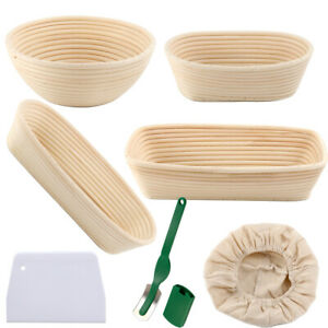 Sourdough Proving Banneton Bread Proofing Basket Baking Mold Dough Scraper Knife