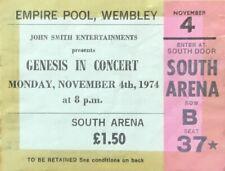 GENESIS-GABRIEL-CONCERT TICKET-EMPIRE POOL,WEMBLEY LONDON-MON,NOVEMBER 4th 1974