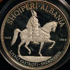 Albania 10 Lek 1970 33g .999 SILVER KM#50.3 RARE only 500 struck (T108)