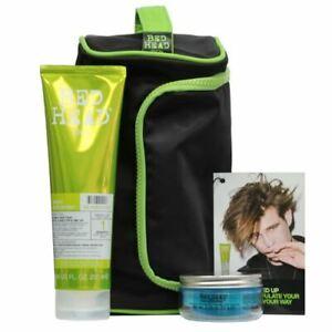 TIGI Bed Head Funked Up Gift Set -Re-Energize Shampoo,Manipulator + toiletry bag