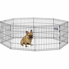 """Exercise Pen Animal Play Yard Train Puppy Cage Kennel Crate Playpen Fence 24"""""""