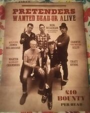 The Pretenders Wanted Dead or Alive 2018 tour Book