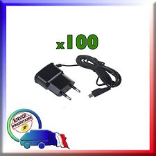 100 CHARGEURS SECTEUR NEUFS MICRO USB POUR SAMSUNG, BLACKBERRY, NOKIA, HTC....