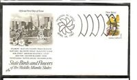 US SC # 1982 State Birds And Flowers ( New Jersey ) FDC. Artcraft Cachet .