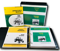 SERVICE PARTS OPERATORS MANUAL SET FOR JOHN DEERE 2640 TRACTOR REPAIR SHOP BOOK