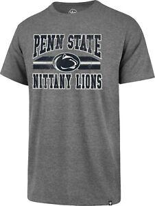 Penn State Nittany Lions NCAA Grey Major Stripe Club S.S. T-Shirt XXL/'47Brand!!