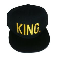 King Royalty 3D Embroidered Adjustable Snapback Baseball Hat Cap Gold Text
