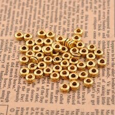 100Pcs 6MM Tibetan Silver/Gold/Bronze Spacer Beads Jewelry Findings A3037