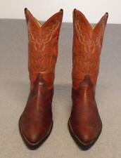 Vintage Justin Western Cowboy Exotic Lizard Skin Dress Casual boots men's 9D Usa