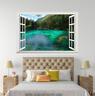 3D Blue River Mount 0025 Open Windows WallPaper Murals Wall Print AJ Carly