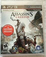 CIB Assassin's Creed III (Sony PlayStation 3 PS3, 2012) COMPLETE IN BOX