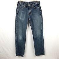LEVIS 514 Mens 30 x 32  Light Wash Blue Denim Straight Leg Casual Jeans Pants