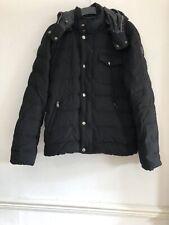 TRU TRUSSARDI Men's Black Real Duck Down Jacket Size IT48