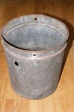 Vintage Primitive '20s Junior Ice Cream Freezer Galvanized Bucket White Mountain