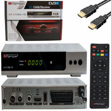 Tv Cable Receiver Dvb-C Connection HD C100 Optikum HDMI Scart USB Digital