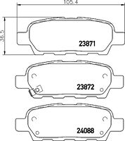 Mintex Rear Brake Pad Set MDB2261  - BRAND NEW - GENUINE - 5 YEAR WARRANTY