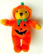 NEW! Halloween Pumpkin Jack O Lantern Costume Bodysuit Teddy Bear plush Doll Hat